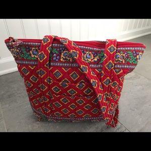 Vera Bradley Villa Red medium tote